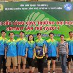 CBGV khoa tham gia giải cầu lông cán bộ viên chức lần thứ IV năm 2017
