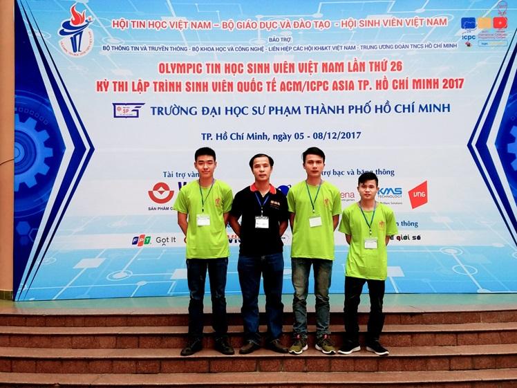 Sinh viên khoa CNTT giành giải tại cuộc thi Olympic tin học sinh viên Việt Nam 2017